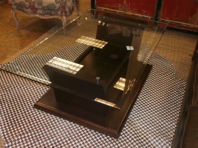 """Contemporary glass top coffee table """"AS IS"""".  Measures 49x32x19.   Arrived: Wednesday October 5th, 2016"""