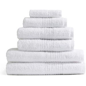 Highams 100% Egyptian Cotton 6 Piece Towel Bale (550gsm)