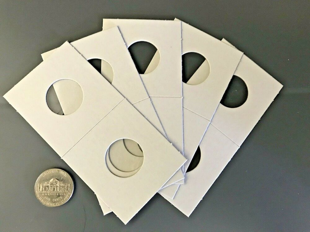 Mylar Coin Holder Flips 5 Premium Quality Quarter 2x2 Cardboard