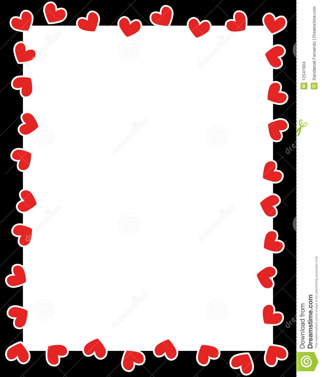 Valentines day clip art borders