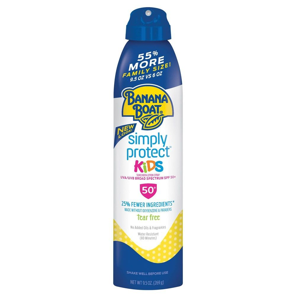 Banana Boat Simply Protect Kids Sunscreen Spray Spf 50 9 5oz