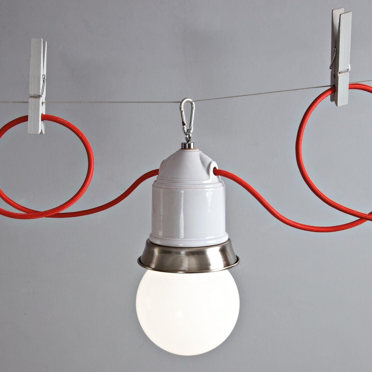 suspension multiple industrielle modulable sur c ble deco luminaires lights pinterest. Black Bedroom Furniture Sets. Home Design Ideas