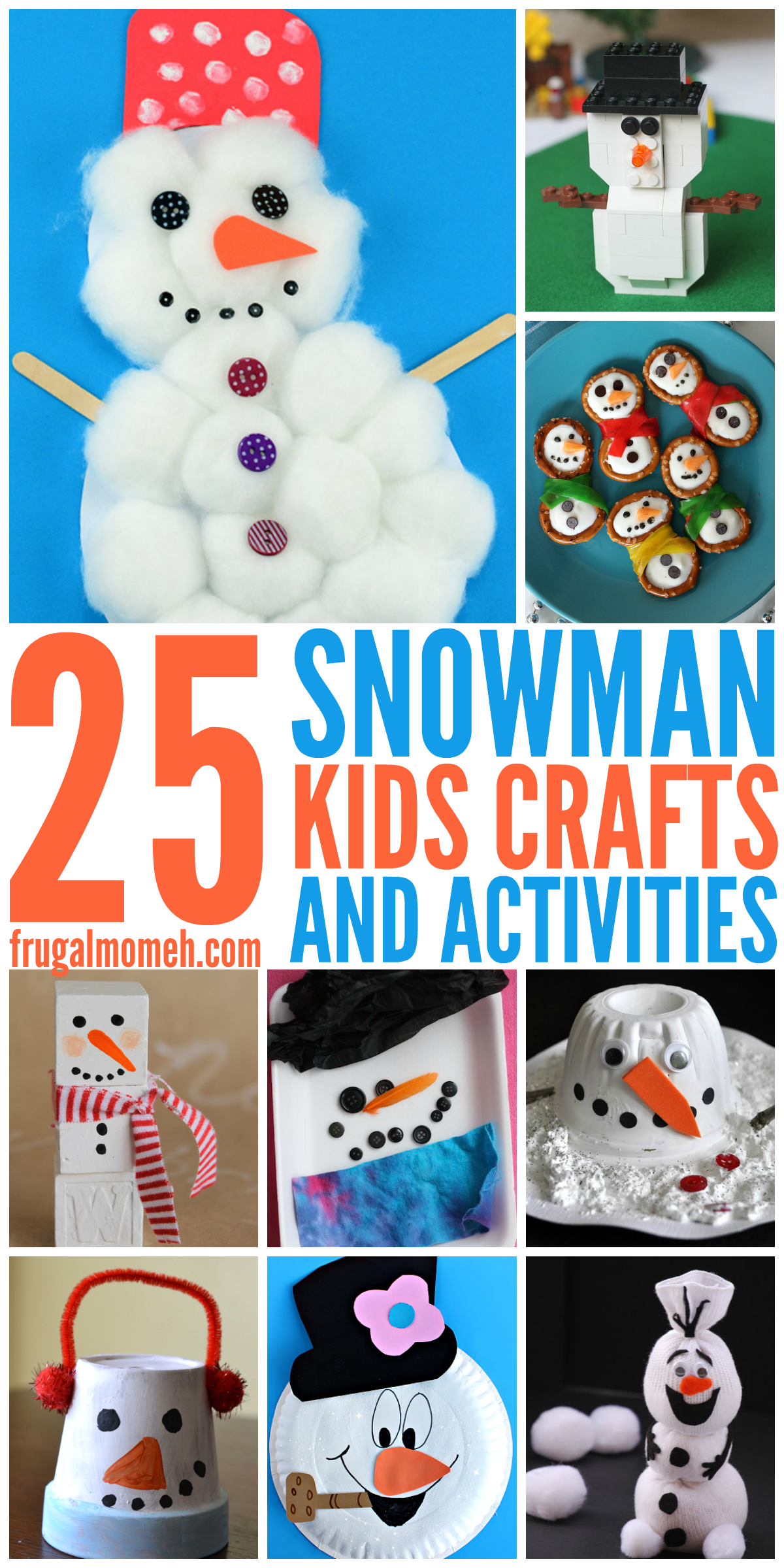 Snowman Crafts & Activities For Kids To Keep Children Busy