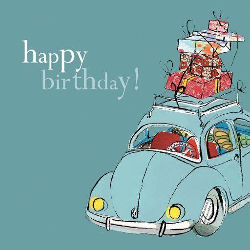 Happy birthday Volkswagon beetle Happy Birthday – Birthday Card Art