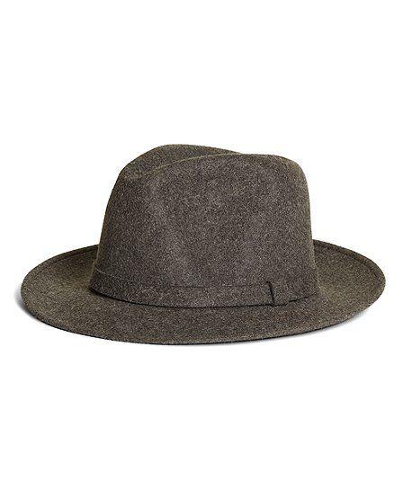 aeb2bb7737b5d Wool Fedora - Brooks Brothers. Wool Fedora - Brooks Brothers Scarf Hat, Hats  For Men ...