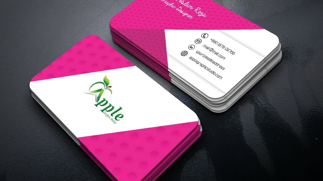 How to Design a Stylish Business Card | Photoshop Tutorial ...