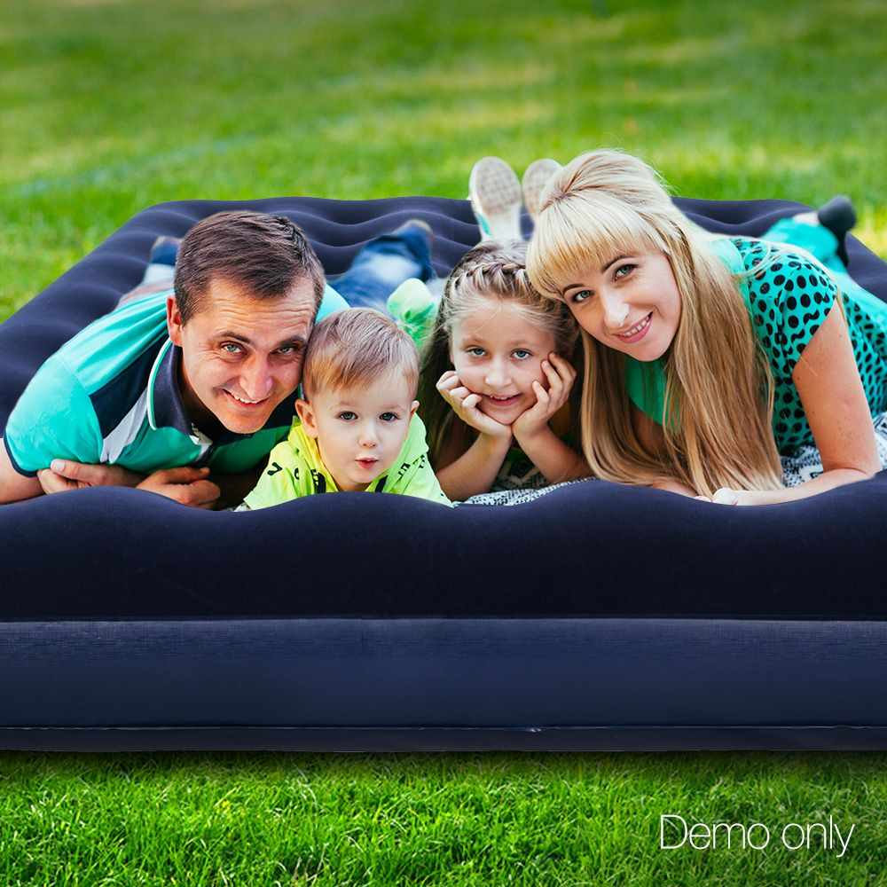 Bestway Twin Double Inflatable Air Mattress Navy