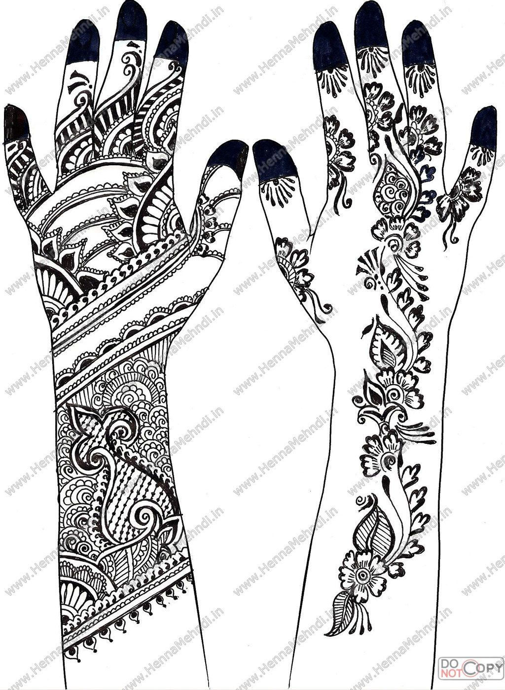 Coloring pages of mehndi hand pattern - Henna Mehndi Contains The Latest Beautiful Modern And Colorful Henna Designs These Mehndi Designs Contains All Patterns Of The Latest Designs In Mehn