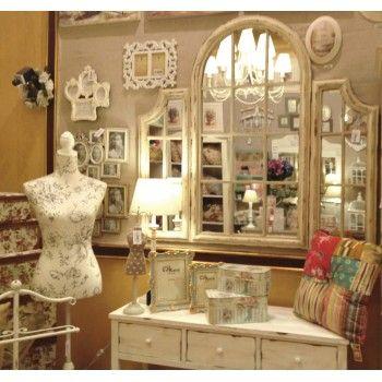 Espejo decoraci n biombo ventana vintage paravents y for Decoracion biombos separadores