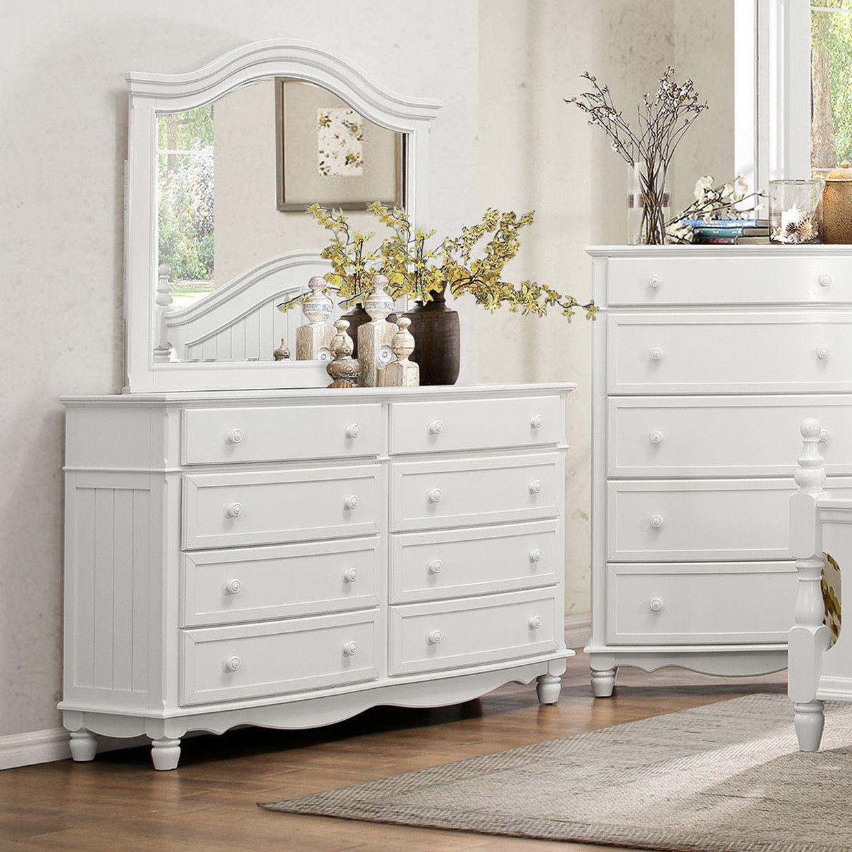 Andre 8 Drawer Standard Dresser Dresser With Mirror Dresser White Wood Dresser [ 1238 x 1238 Pixel ]
