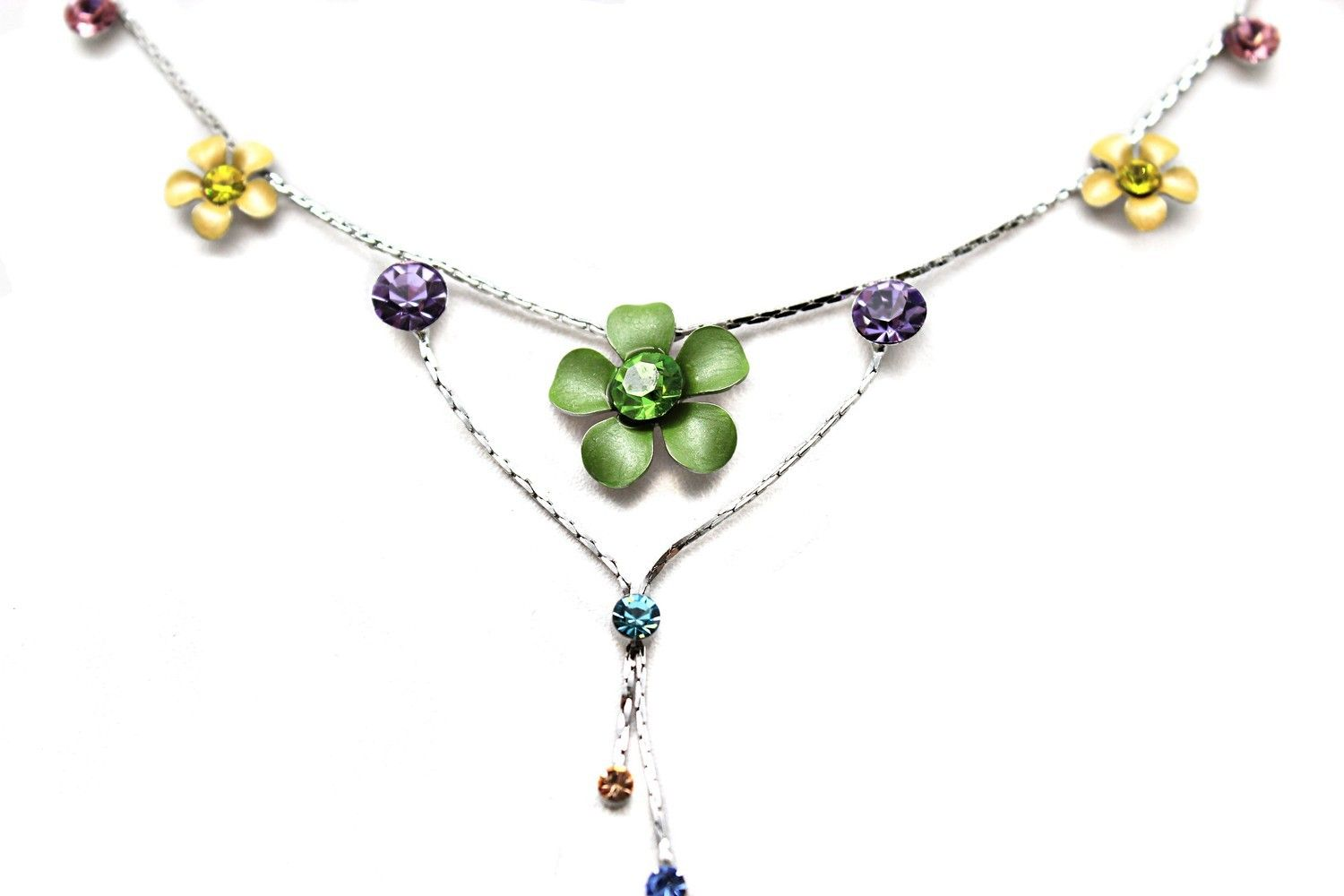 Hawaii sparkle plumeria necklace with cz in multiple color in 2018 hawaii sparkle plumeria necklace with cz in multiple color izmirmasajfo