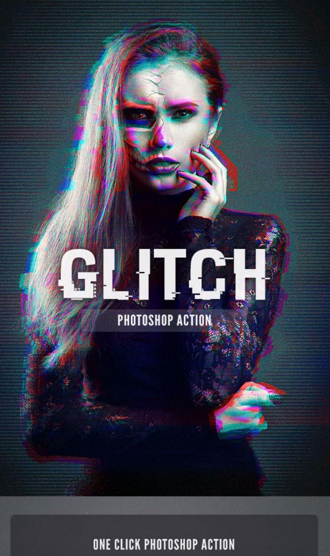 Glitch (one click #photoshop #action)   lapocalypse