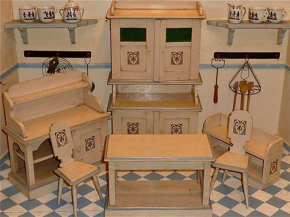 Antike wohnzimmermöbel ~ Antike jugendstil möbel um altweiß blau in