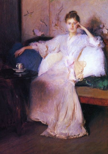 Arrangement in Pink and Gray (Afternoon Tea) - Edmund Charles Tarbell - c.1894