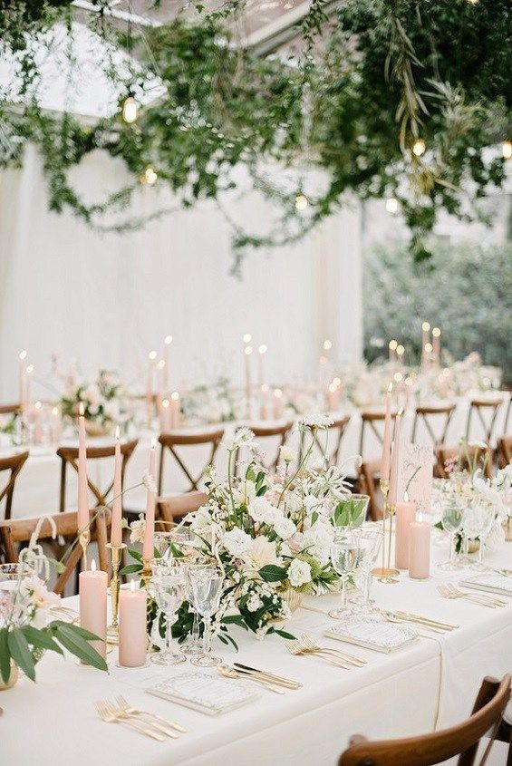 Blush wedding colour for a garden wedding