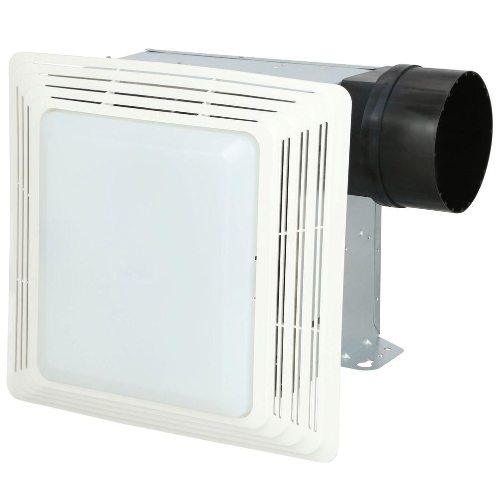 Broan Nutone 50 Cfm Ceiling Bathroom Exhaust Fan With Light 678 The Home Depot In 2020 Bathroom Exhaust Fan Bathroom Fan Light Bathroom Exhaust