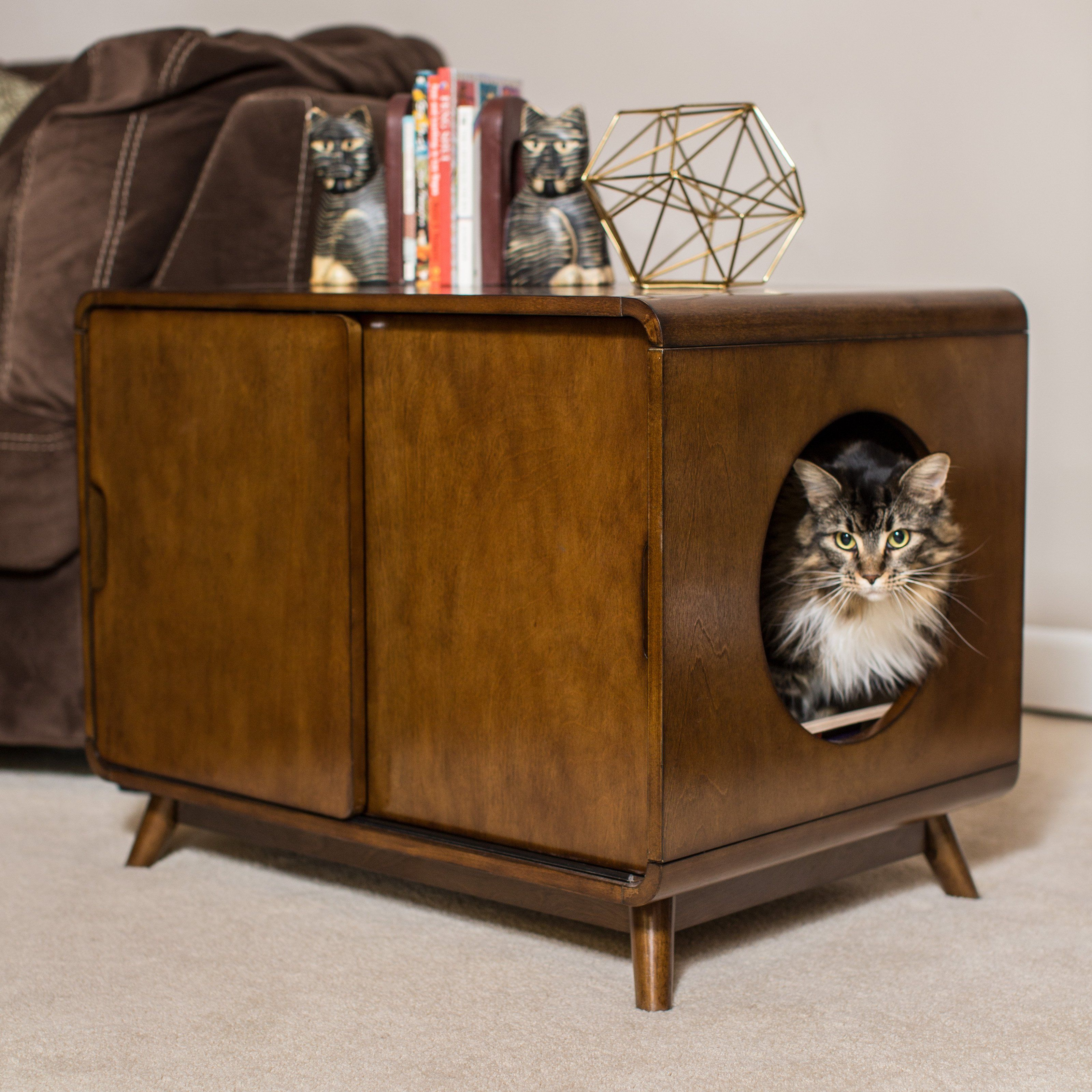 Boomer & Carter MidCentury Modern Cat Litter Box