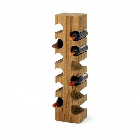 Wooden Solid Oak Wine Rack