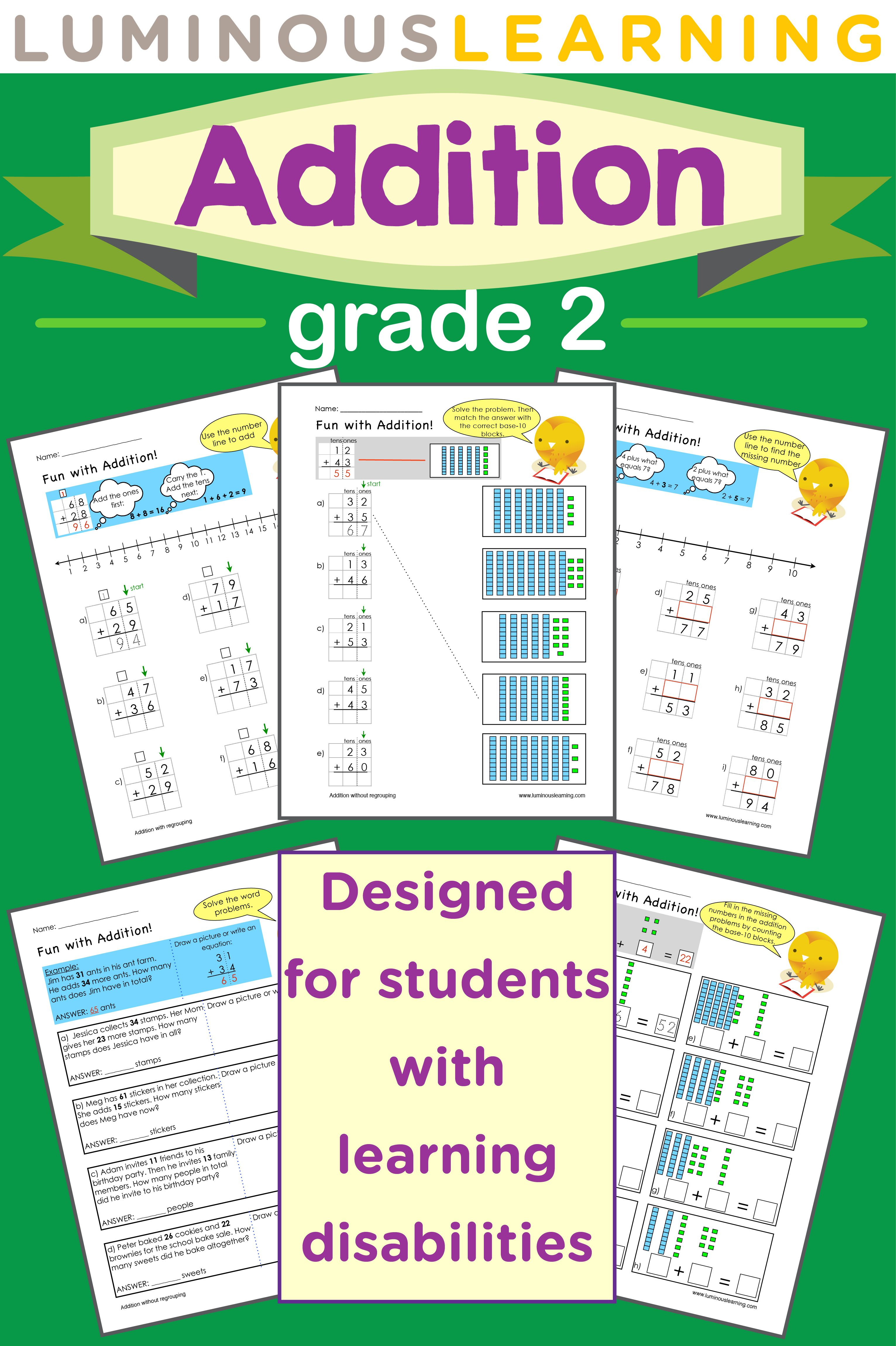 Luminous Learning Grade 2 Addition Workbook Helps