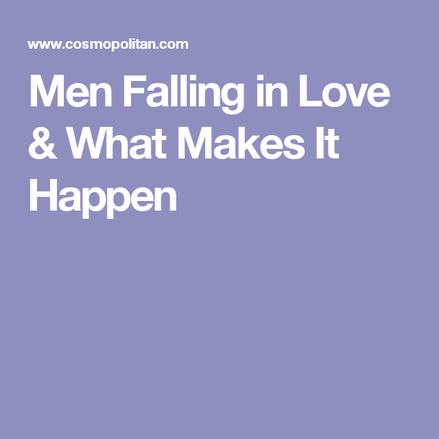 Falling in love advice