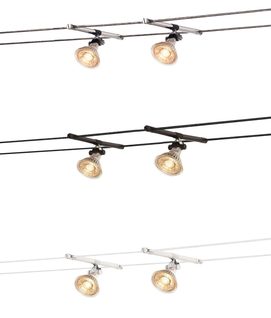 Simple Adjustable Spotlights for Tension Wire System