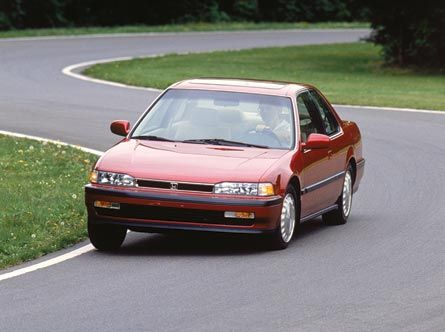 Red 1990 Honda Accord Front View Automobiles Pinterest Honda
