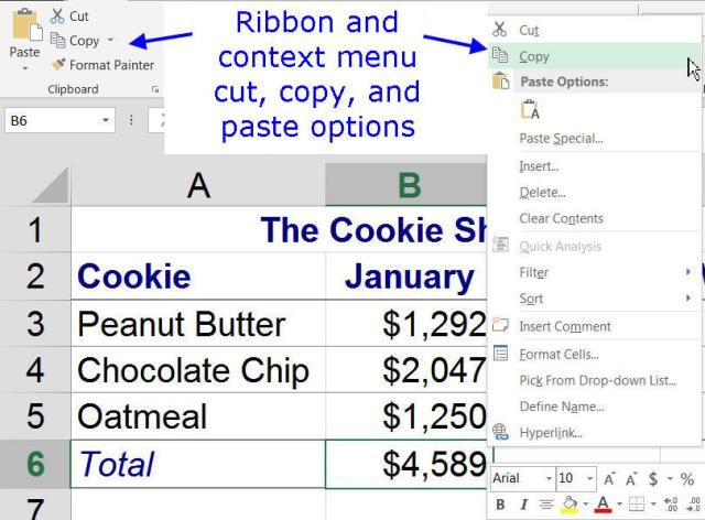Cut, Copy, and Paste Data in Excel With These Shortcut Keys - excel spreadsheet formulas