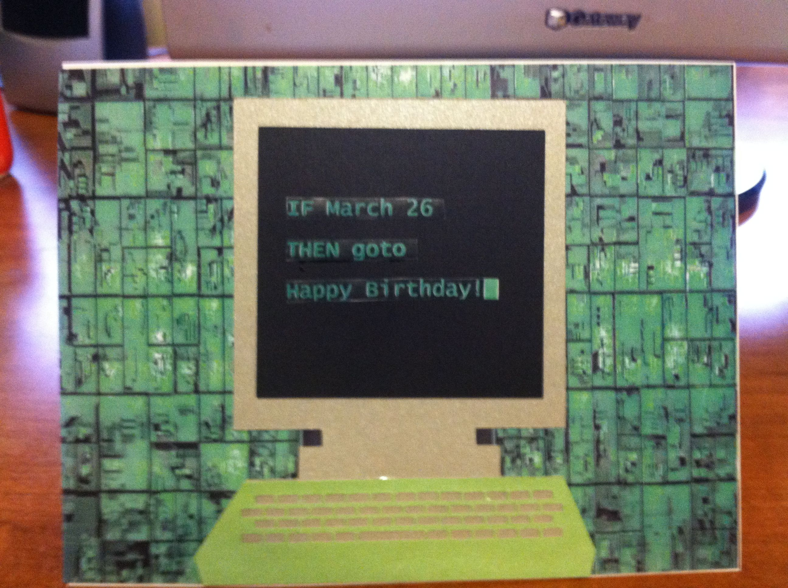 Birthday Cards By Text ~ Birthday card for programmer happy birthday with programming text