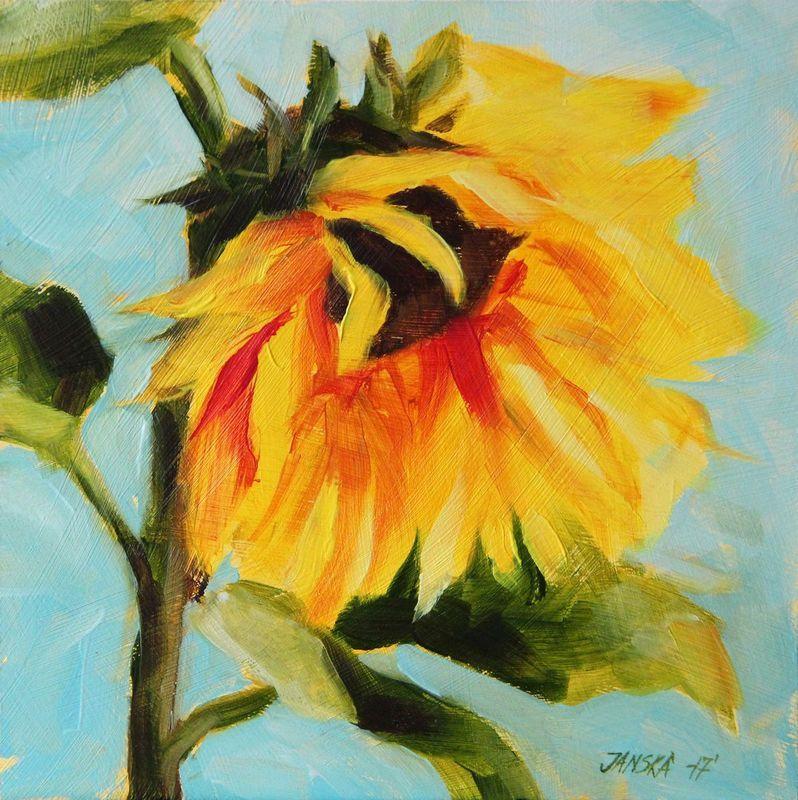 Sunflower Painting Original Flowers Painting Oil Painting Sunflower Painting Flower Painting Oil Painting Flowers