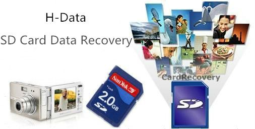H-Data Card Recovery Software can recover files from SD card, CF
