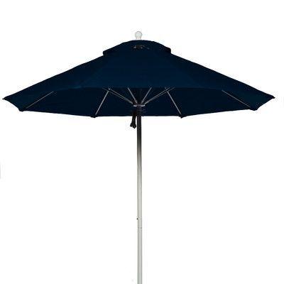 Frankford Umbrellas 7.5' Market Umbrella Fabric: Navy Blue, Pole Type: White Coated Aluminum Pole