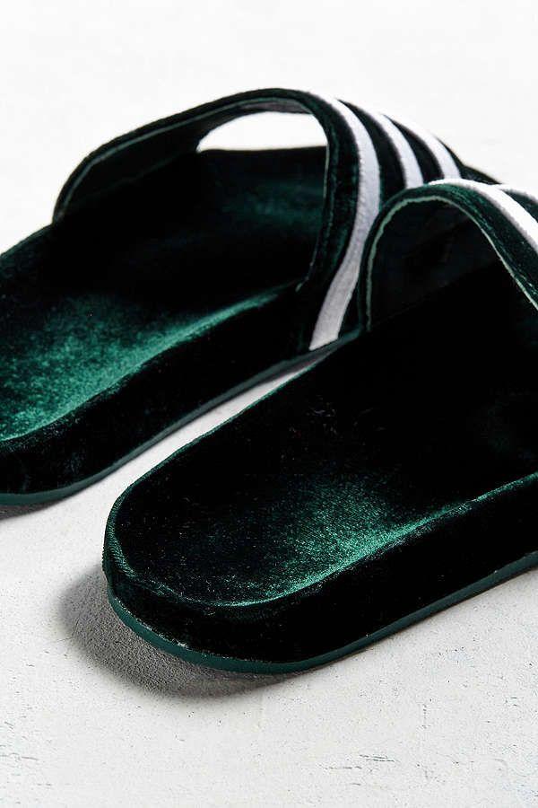 online store c40ca cc4ce Slide View 4 adidas Adilette Velvet Slide Sandal