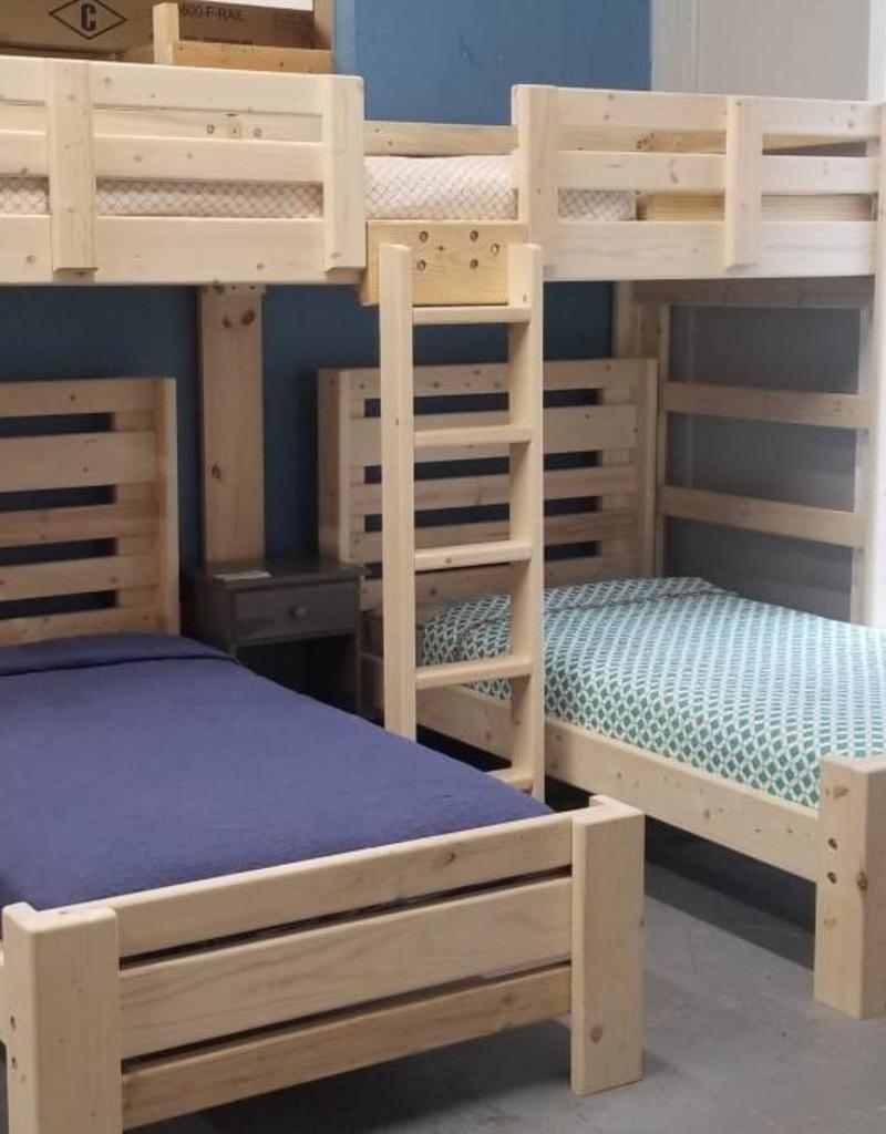 Hat Trick Triple Bunk W 2 Plank Beds Bunk Beds Triple Bunk