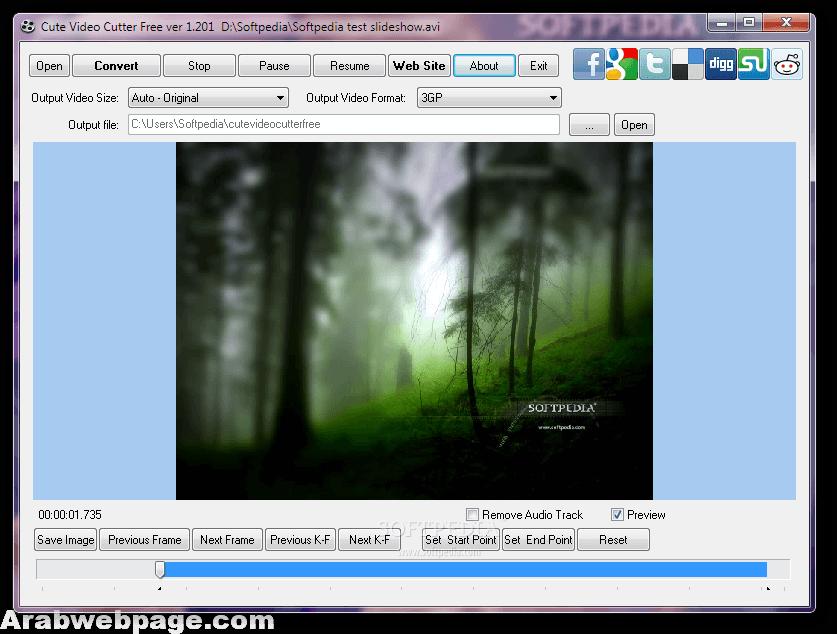 تحميل برنامج تقطيع الفيديو ودمجها للكمبيوتر Cute Video Cutter الصفحة العربية Natural Landmarks Landmarks Northern Lights