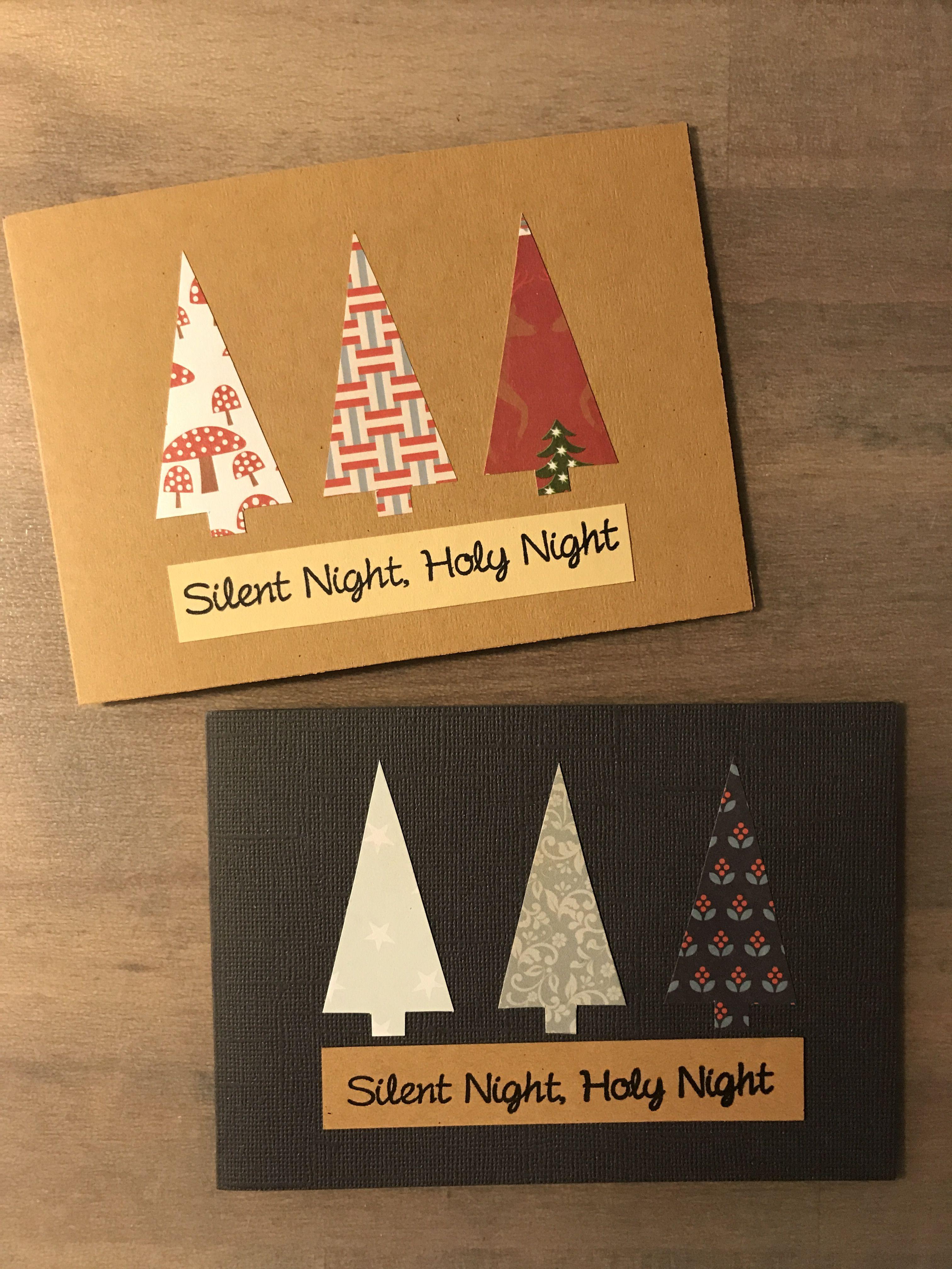 schlichte weihnachtskarten aus buntem papier diy karten. Black Bedroom Furniture Sets. Home Design Ideas