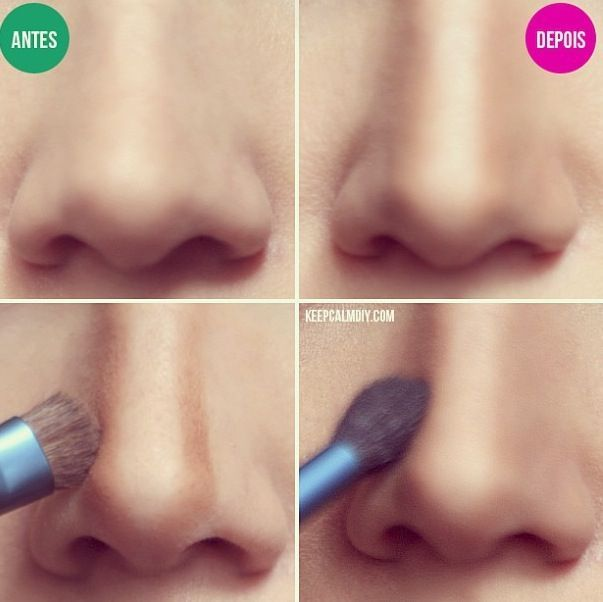 How To Make Your Nose Look Thinner With Makeup Nose Contouring Makeup Tips Contouring And Highlighting