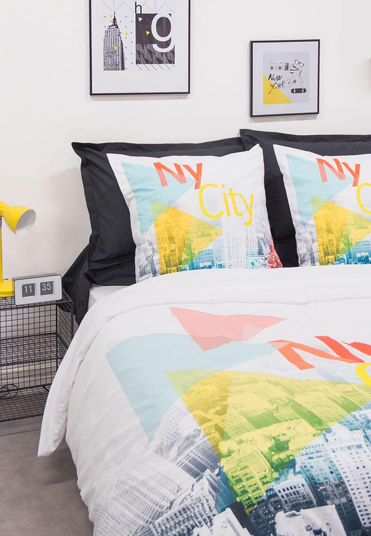 Idee Deco Pour Une Chambre Urbaine Housse De Couette New York Decoration Chambre Comptoirdestisseurs Chambre Urbaine Housse De Couette Ado Linge De Lit