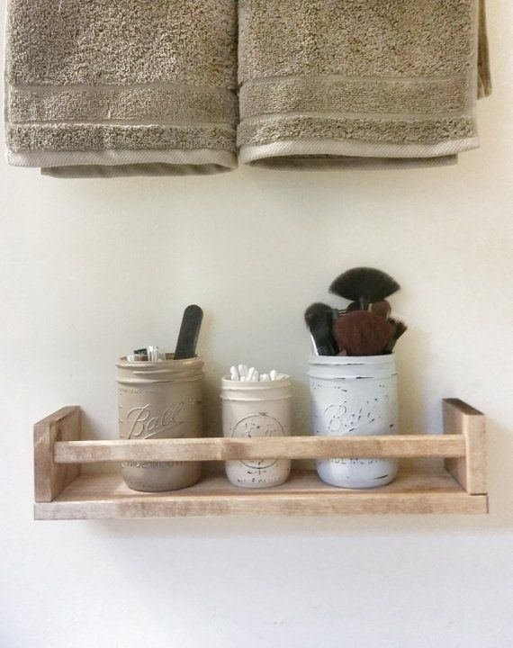 Your place to buy and sell all things handmade #masonjarbathroom