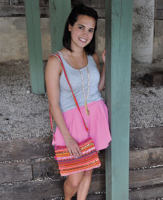 Something pretty and PINK just made its way to the blog today. See how @chelseylaborde ventures out of her comfort zone into these perfectly pink peplum shorts. #shorts #summershorts #brightshorts