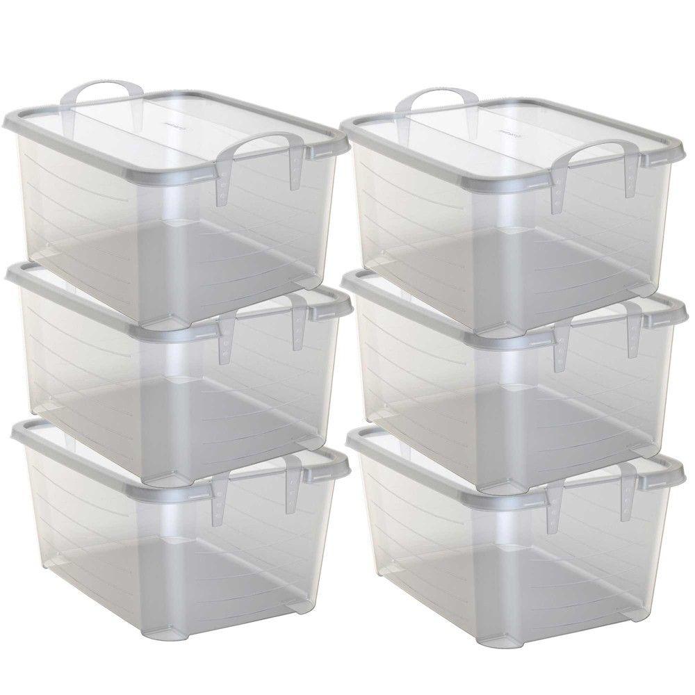 Life Story Clear Stackable Closet Storage Box 55 Quart