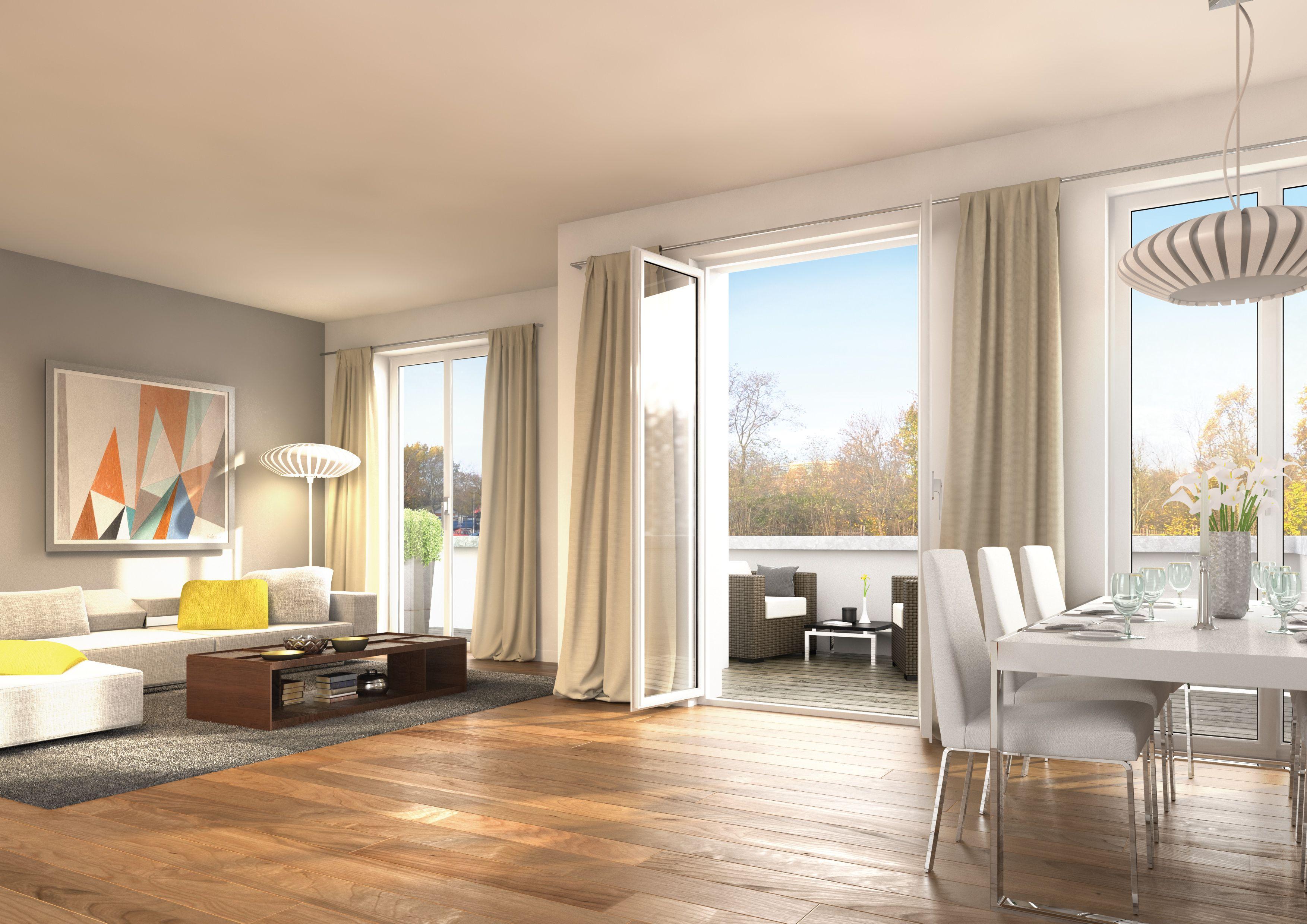 neubauprojekt westendpark dachgeschoss wohnung eine offene raumgestaltung und die gro e. Black Bedroom Furniture Sets. Home Design Ideas