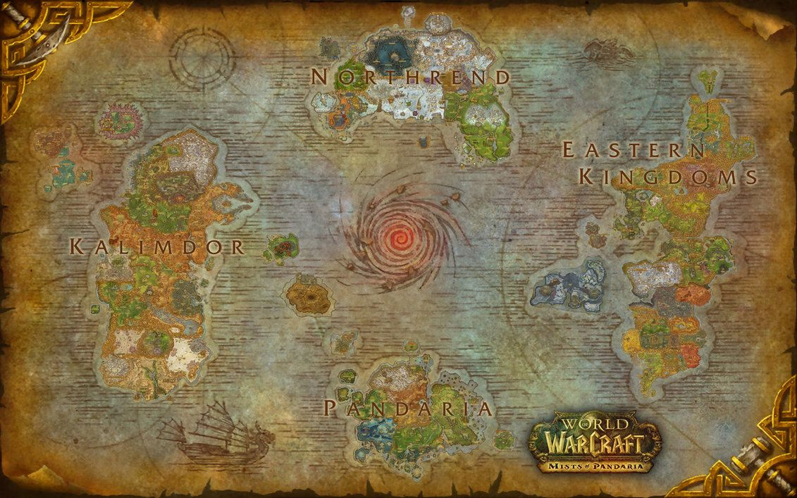 World of Warcraft Azeroth Composite Map - Updated by amiyuy | Wall ...