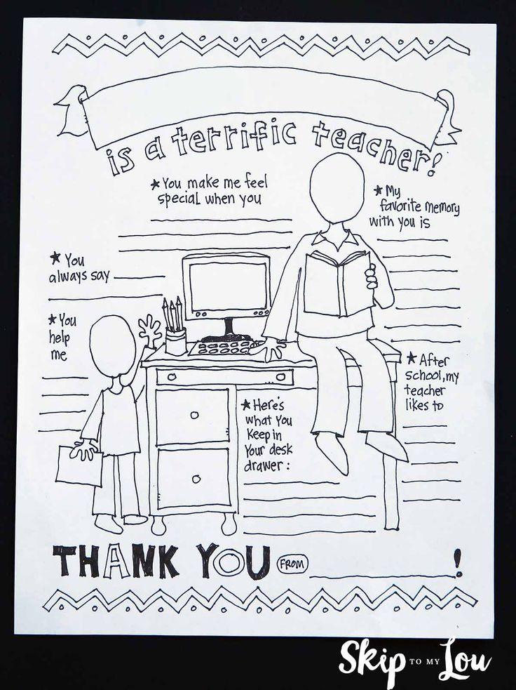 My Teacher Coloring Page | Teacher appreciation | Teacher ...