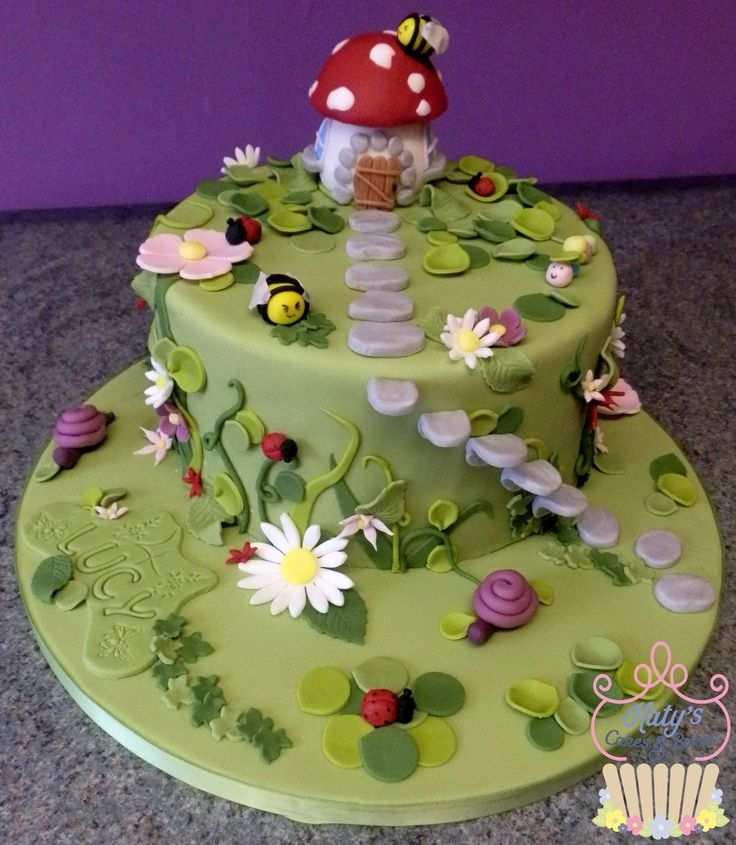birthday cakes - Garden Design Birthday Cake