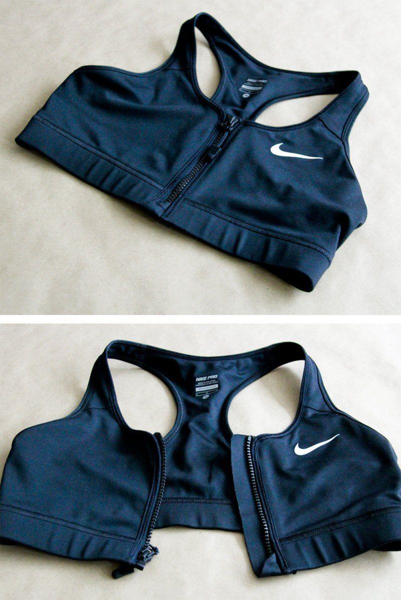 5dc1174ae1263 for the love of Nike   cool zipper bra!