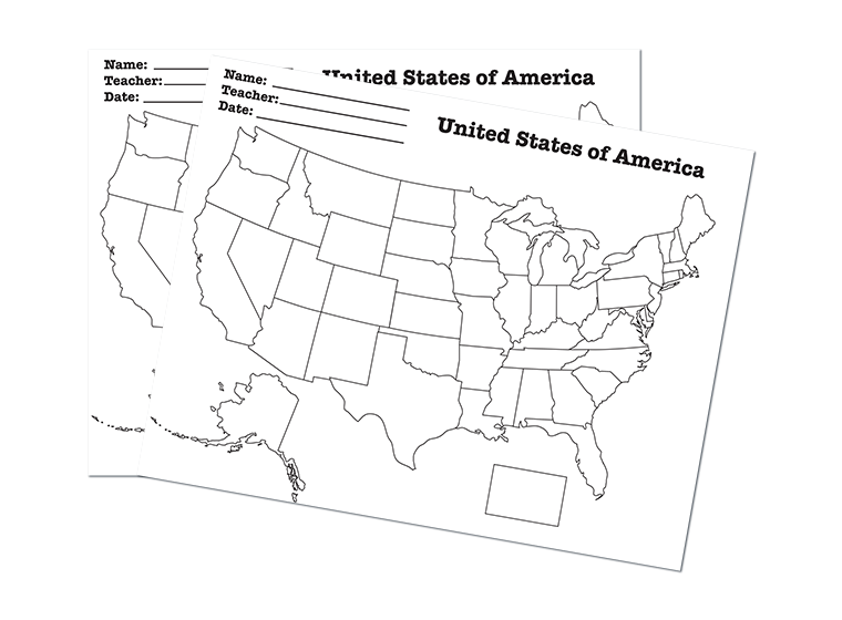 Maps  Usa States Worksheet  A Blank Map Of The Usa For Students