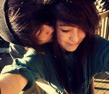 Inspiring Picture Boy Emo Love Cute Girl Hug Kiss