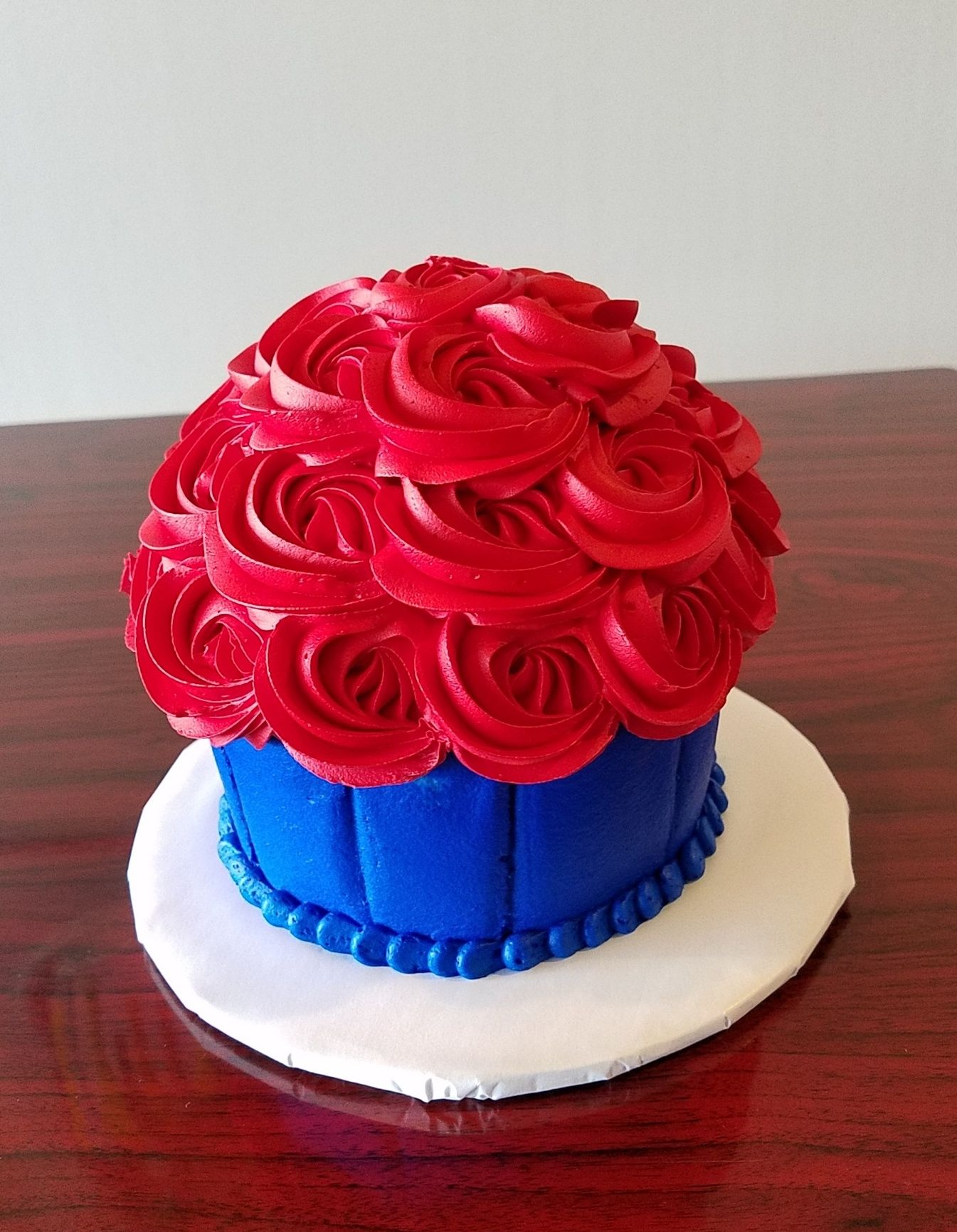 Giant Red Rosette Cupcake Adrienne Co Bakery Birthday Cakes