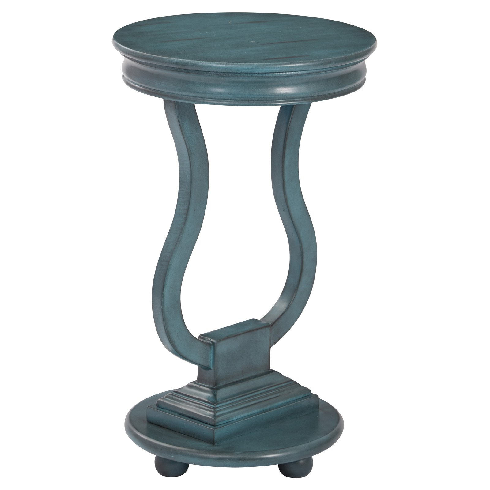 Osp Designs Chase Round Accent Table Wood Accent Table Osp Home Furnishings