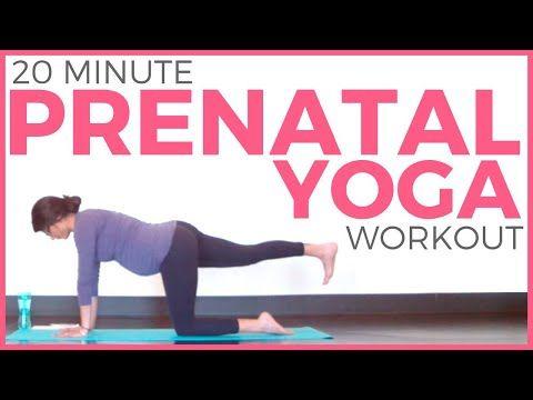 20 minute prenatal yoga workout for strength  flexibility